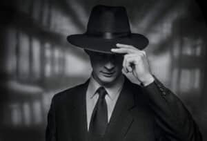 The,Detective,Takes,On,The,Camera.,Vintage,Style,Black,And